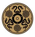 ancient scandinavian viking shield vector image vector image