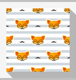 Animal seamless pattern collection with fox 3 vector image vector image
