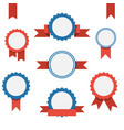 badge labels and ribbons emblems set vector image vector image