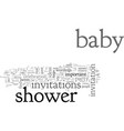 bashower invitations creative tips and ideas vector image vector image