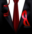 black festive suit with mask vector image vector image