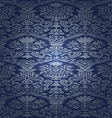blue silk seamless abstract floral background vector image vector image