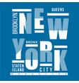 brooklyn new york city graphic image vector image