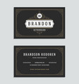 business card vintage ornament style and luxury vector image vector image