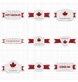 Canada Day patriotic Labels Set vector image vector image