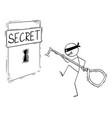 cartoon man in mask thief hacker or criminal vector image vector image