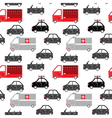 city car seamless pattern vector image vector image