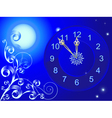 Clock and vignette vector image vector image