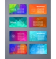 Colorful tiles templates for web ui and pring vector image vector image