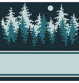 Coniferous forest vector image vector image