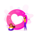 creative love emoticons shape with little vector image