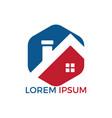 creative real estate logo design vector image