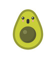 cute smiling exotic avocado isolated colorful vector image