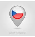 Czech Republic flag pin map icon vector image vector image