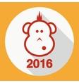 Design Flat Icon Symbol New Year vector image vector image