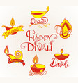 diwali festival elements vector image