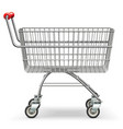 empty supermarket trolley vector image vector image
