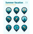 Extreme Water Sport pin map icon set Vacation vector image vector image