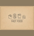 fast food restaurant placemat vector image