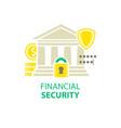 financial security icon vector image vector image