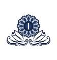 flower elegant icon initial i vector image vector image