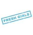 Fresh Girls Rubber Stamp vector image vector image