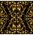 Golden vintage seamless pattern with lot of vector image vector image