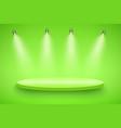 green presentation platform vector image vector image