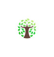 green tree environmental logo vector image vector image