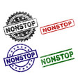 grunge textured nonstop seal stamps vector image