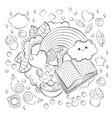 halloween concept hand drawn cartoon doodle vector image vector image
