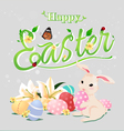 Happy Easter typographical backgroundisolated vector image vector image
