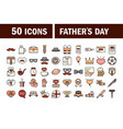 happy fathers day celebration accessories message vector image