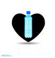 heart black icon love symbol the bottle vector image