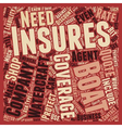 How to Shop For Boat Insurance text background vector image vector image