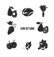 icon set farm design vector image