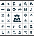 insurance icons universal set for web and ui vector image
