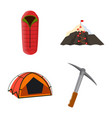 isolated object of mountaineering and peak icon vector image