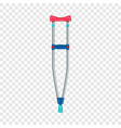kid crutch icon realistic style vector image vector image