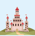landscape with princesses castle in colorful vector image vector image
