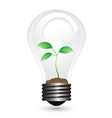light bulb plant vector image vector image