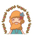 man with beard peace and love vector image vector image