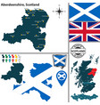 map aberdeenshire scotland vector image