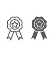 medal line and glyph icon sport and prize award vector image vector image