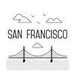 Monochrome San Francisco Golden Gate Bridge San vector image vector image