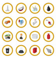 oil industry cartoon icon circle vector image vector image