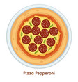 pizza pepperoni italian food dish salami and vector image vector image