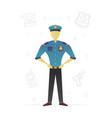 policeman flat character design vector image