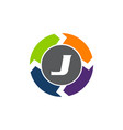 process planner center letter j vector image vector image