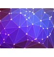 purple lilac pink geometric background with mesh vector image vector image